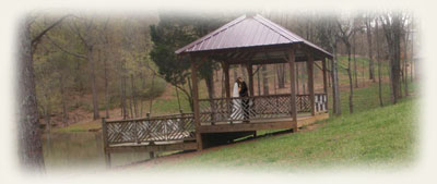 The gazebo at Kudzu Cove is perfect for romantic outdoor weddings